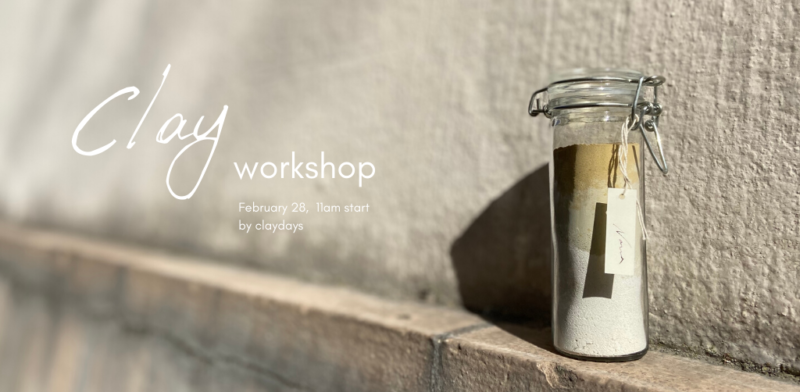 <満員御礼>-Ordermade clay workshop- × Ayurveda lunch  @ 世田谷区太子堂2−17−5佐藤ビル3F